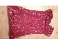Sparkly Pink Sequin party top Age 7 to 8