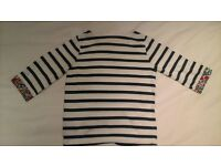 mini boden girls 3/4 sleeve top