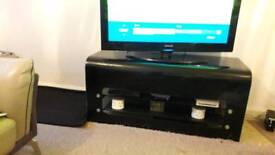 Black glass Tv stand and side unit