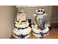 Baby shower nappy cakes
