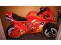 Avigo plastic ride on motorbike