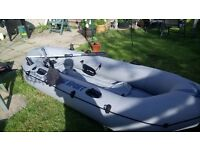 INTEX SEAHAWK SPORT 400 INFLATABLE BOAT/DINGHY 4 MAN UNUSED