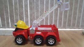 Matchbox Steer 'n Store Red Fire Truck