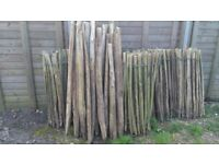 Used Fencing - Chestnut Rolls and Posts