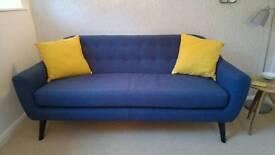 Made Scandinavian Style Sofa, 3 seater