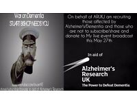 In aid of Alzheimer's Research UK-Live event stream