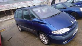 2001 RENAULT ESPACE, 2.2 DIESEL, BREAKING FOR PARTS ONLY, POSTAGE AVAILABLE NATIONWIDE