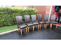 6 dinning/kitchen chairs