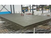 floor screeding, sand cement mix, concrete, Flowing, Underfloor heating
