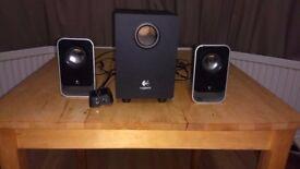 Logitech LS21 2.1 Stereo Speaker System Black