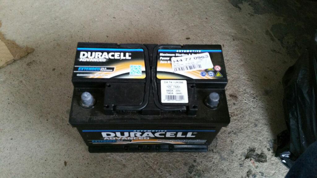 Duracell DA74 Advanced Car Battery Type 096