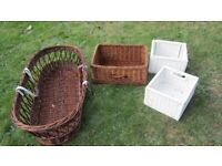 4X WICKER BASKETS ASSORTMENT OF SIZES-- £10 THE FOUR-- BROMLEY BR2