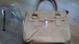 Tedlapidus Bag New Beige colour Meduim Size. Short Handles.