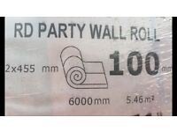 100mm Insulation Rolls (Party Wall type)
