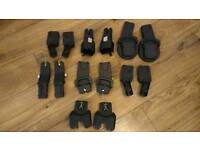 Selection of car seat adapters, to prams quinny, sola, silver cross, loola, rubix.