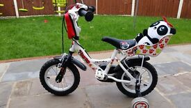 Girls 12inch Apollo bike with stabilisers