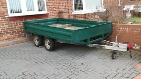 2 ton, twin axle trailer, 10ft bed