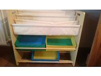 Kids storage shelf unit