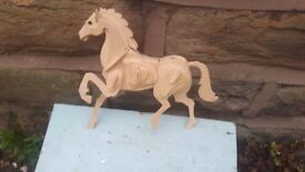 Plywood Model Making Horse Decorative Display Ornament Figure Figurine Pieced / Slotted Together
