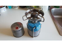 Camping stove + 1 full can