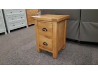 Brand New BESP-OAK Boston Select Oak 2 Drawer Bedside Tables £99 Each