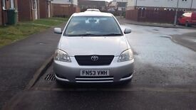Toyota Corolla VVT-I 100% working No problems at all, new brake pads and full exhaust.