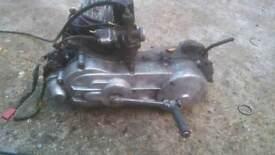 Honda vision 1989 50cc 2 stroke running engine