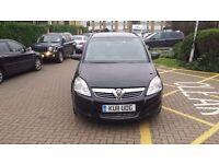 Vauxhall Zafira 1.6 i VVT 16v Exclusiv 5dr Reg2011 PCO 6 Month MoT 6 Month Low Mileage 35800 £3999