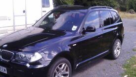 BMW X3 M SPORT BLACK SEMI AUTOMATIC 2008