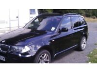 BMW X3 M SPORT BLACK SEMI AUTOMATIC 2008