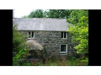 Traditional stone house for sale 4 bedrooms garden garage barns 2.5 acres land, rural nr Dolgellau