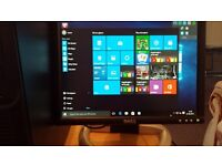 PC tower quad core and screen perfect order .dockingpe31