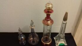 Vintage Perfume Bottles & Eiffel Tower Cognac Decanter