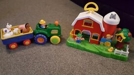 Farm, Tractor and Animals