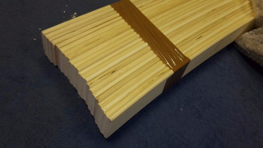 NEW,Pack of Spare replacement wooden bed slats. Metal Wood bed frame curved slates, lats, slatts