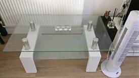 Medium glass coffee table