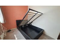 Small double ottoman storage bed and mattress