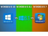 MICROSOFT XP PRO/HOME, WINDOWS 7,WINDOWS 8, WIN 10