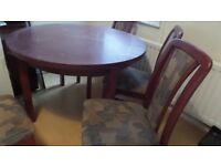 Table & 4 x chairs