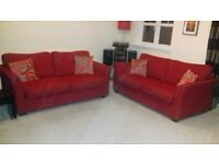 Two Red Sofa's for Sale