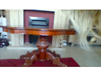 coffee table - repro - inlaid top,