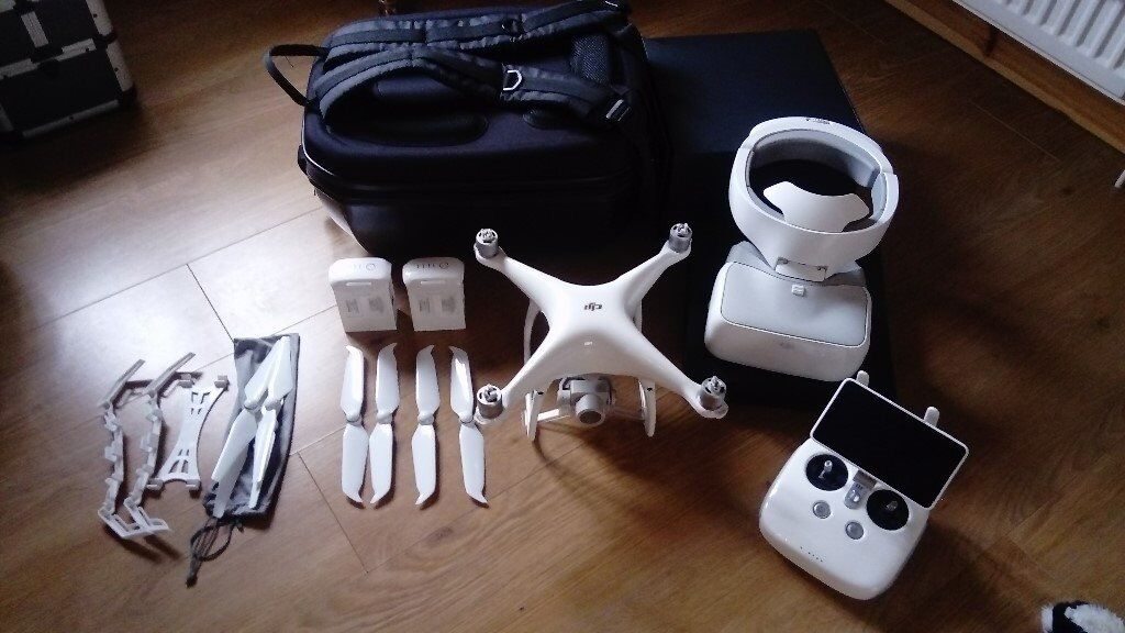 dji phantom 4 pro plus drone and dji goggles two batteries ...