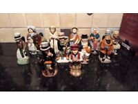 Dickens Collection Of 12 Franklin Porcelain Toby Jugs