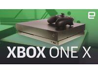 XBOX ONE X BLACK FRIDAY DEAL w FREE GAMES 4K Console black 1TB Forza Halo Quantum break +XBox TV