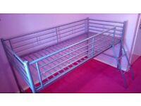 Childrens metal mid sleeper bed