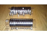 Metal curtain pole rings