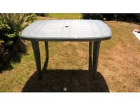 Large Oblong Garden Table