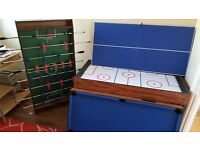 4 in 1 games table pool table tennis air hockey and football table