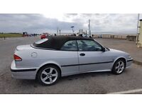 SAAB 9.3 SE Turbo Convertible Cat C repaired. Drives well with re-con engine; bodywork needs TLC