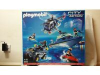 Playmobil City Action POLICE Tactical Unit Play Set with Action Figures 9043 NEW
